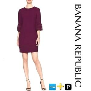 🆕🅿➕ 3/4 Lace  Bell Sleeve shift Dress NWT